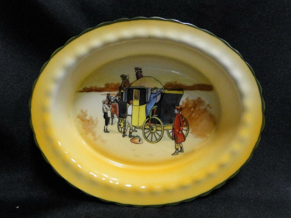 "Royal Doulton Coaching Days, Climbing onto a Stagecoach: Nut Dish, 5 5/8"", 16c"