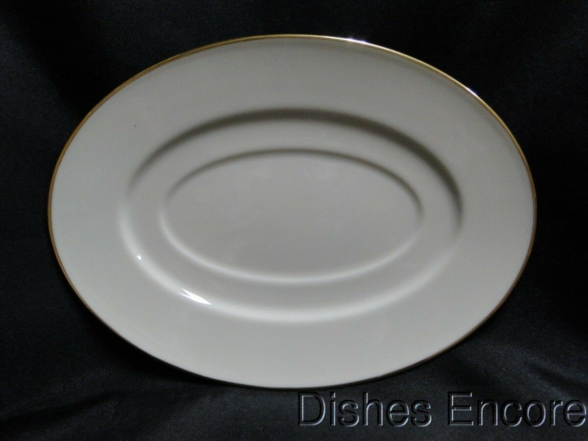 "Lenox Hayworth, Ivory w/ Gold Verge & Trim: Gravy Underplate Only 9"" x 6 1/2"""