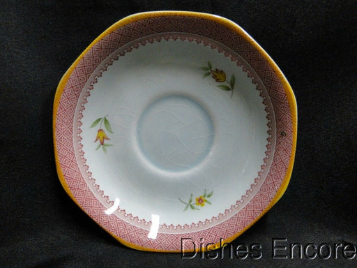 "Adams Lowestoft, Calyxware: Saucer Only 5 5/8"", Crazed"
