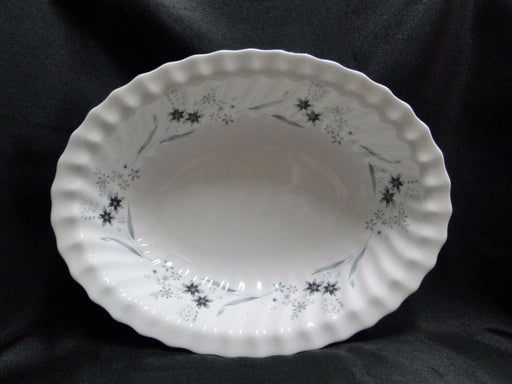 Royal Doulton Millefleur, Gray & Blue Flowers: Oval Serving Bowl, 10 5/8""