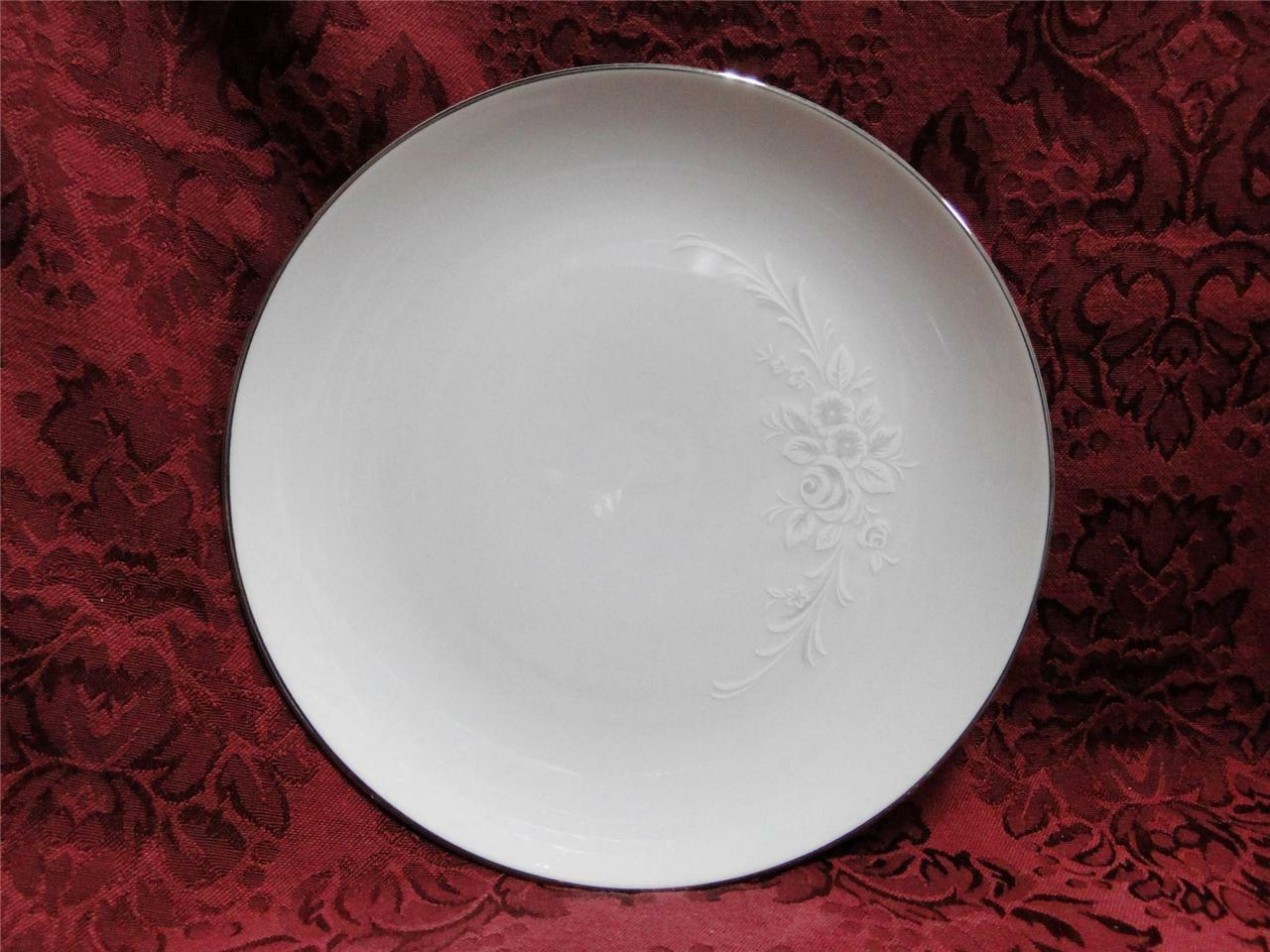 Sango Cantata, White/Gray Shadow Flowers: Salad Plate (s), 7 5/8""