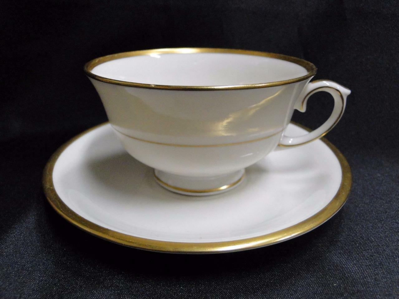 Lamberton Spring Garden, Cream, Multi Floral and Gold: Cup & Saucer Set (s)