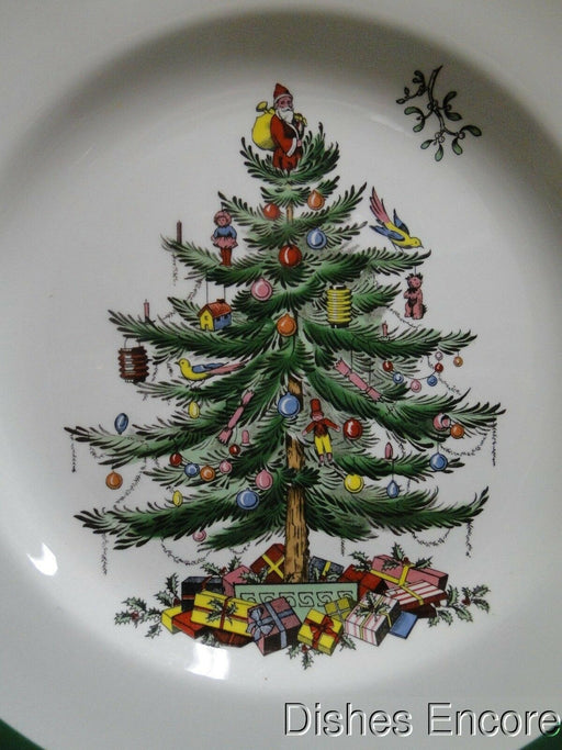 "Spode Christmas Tree, Green Trim, England: Dinner Plate (s), 10 3/8""-10 7/8"""