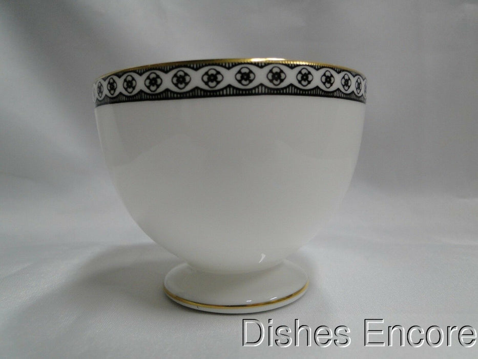 "Wedgwood Ulander Black, Black Lines & Circles on Edge: 2 5/8"" Cup (s) Only"