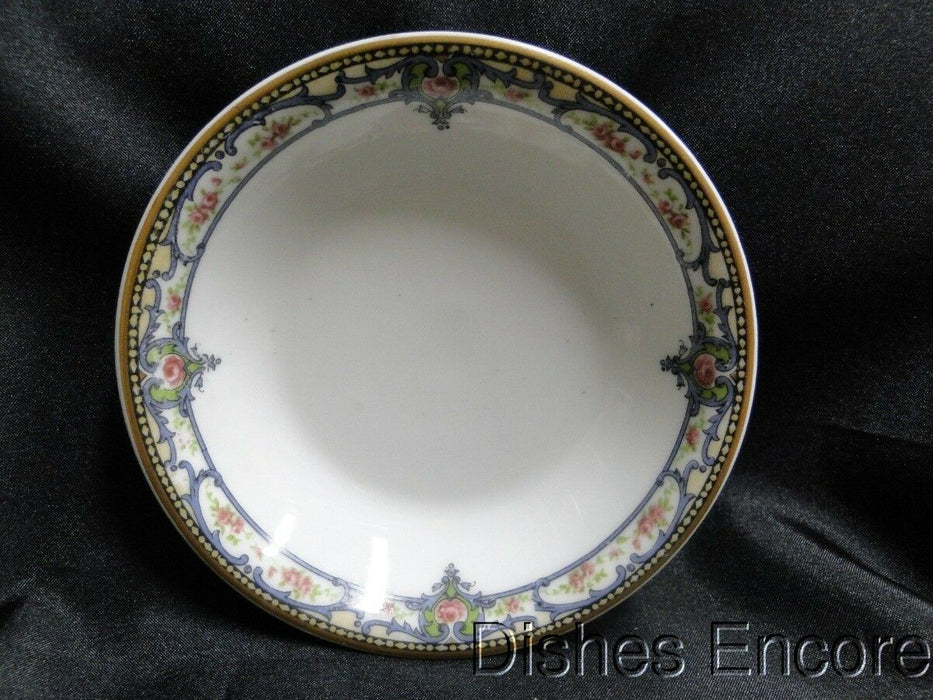 "Haviland (Limoges) Troy, Pink Roses, Blue Scrolls, Gold: Fruit Bowl 6 1/4"" AS IS"