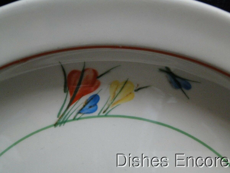 Midwinter, Stonehenge, Crocus, Coral/Blue/Yellow/Green: Dinner Plate (s) 10 3/8""