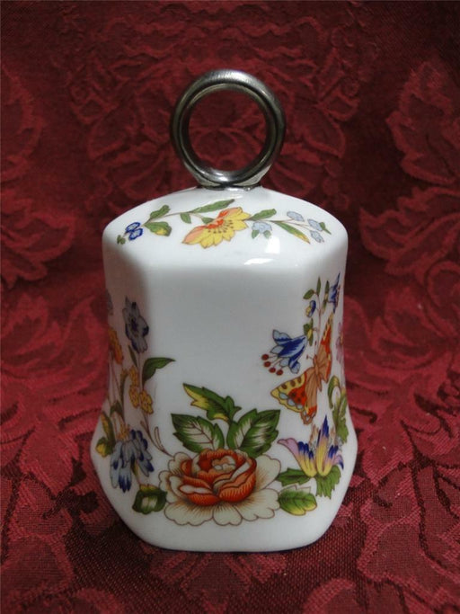 Aynsley Cottage Garden: Bell with Silver Ring Handle