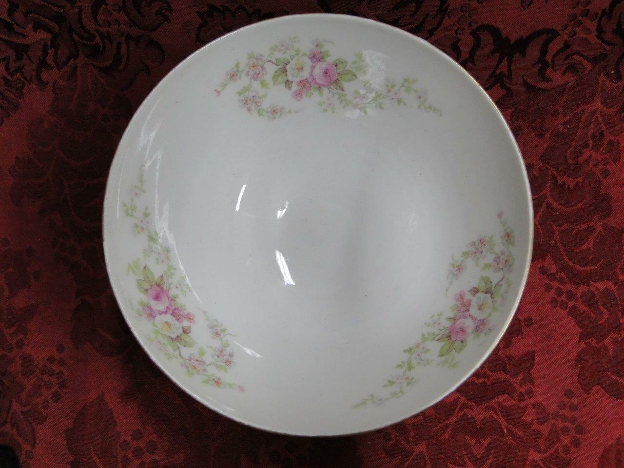 Bawo & Dotter, BWD56, Limoges,Pink & White Roses, Gold Trim: Footed Bowl 6 1/8""