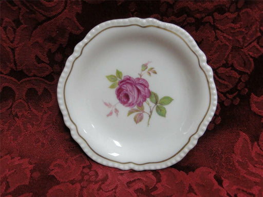 Castleton Dolly Madison, rose w/ gold trim: Coaster (s) 4 1/4""