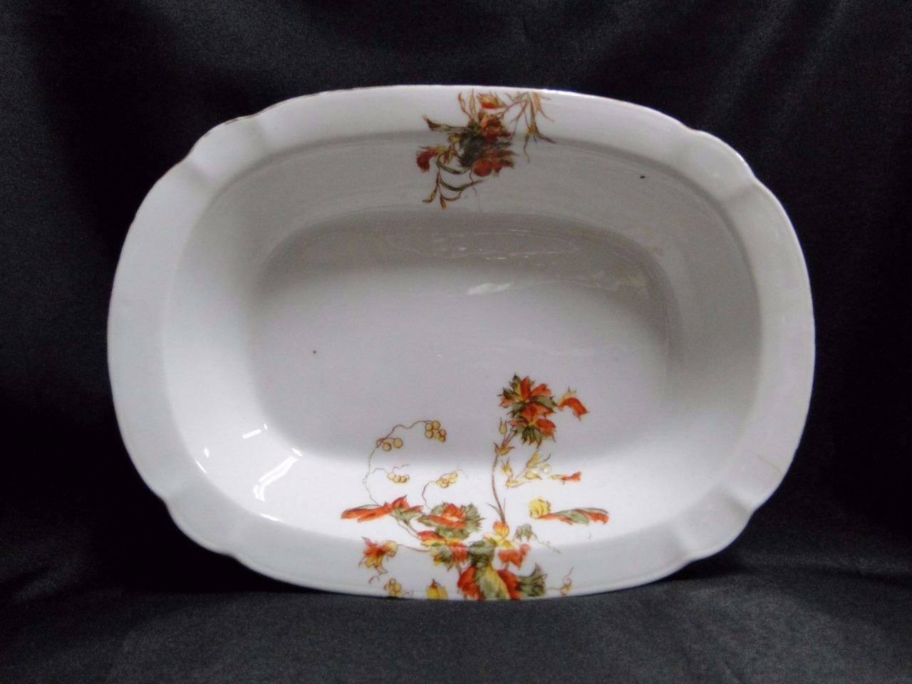 "Schwalb Brothers (BSM), Coral Flowers: Oval Serving Bowl 9 7/8"" As Is, Design #1"