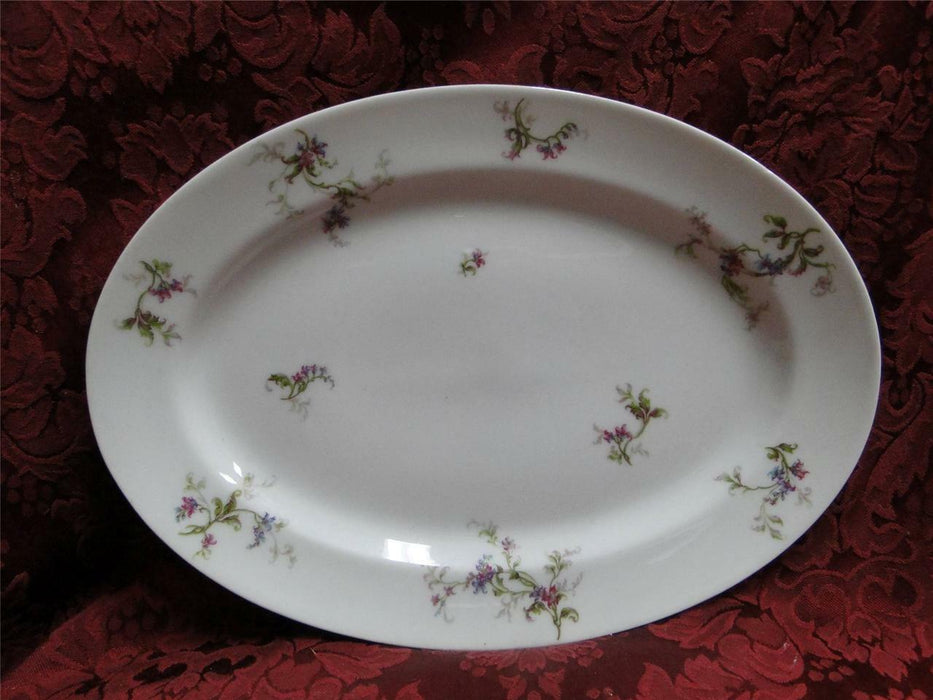 "Haviland 1 (Limoges) Fuchsia Pink and Blue Floral: 11 5/8"" Platter"
