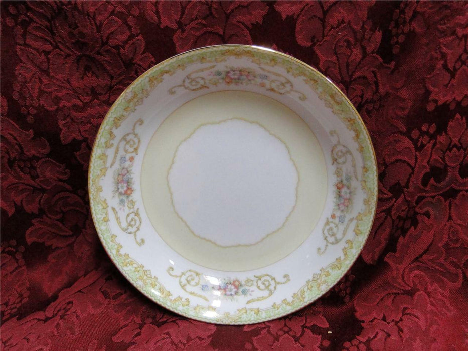 Noritake Green Edge, Swirls & Flowers on White: Coupe Soup Bowl (s), 7 1/4""