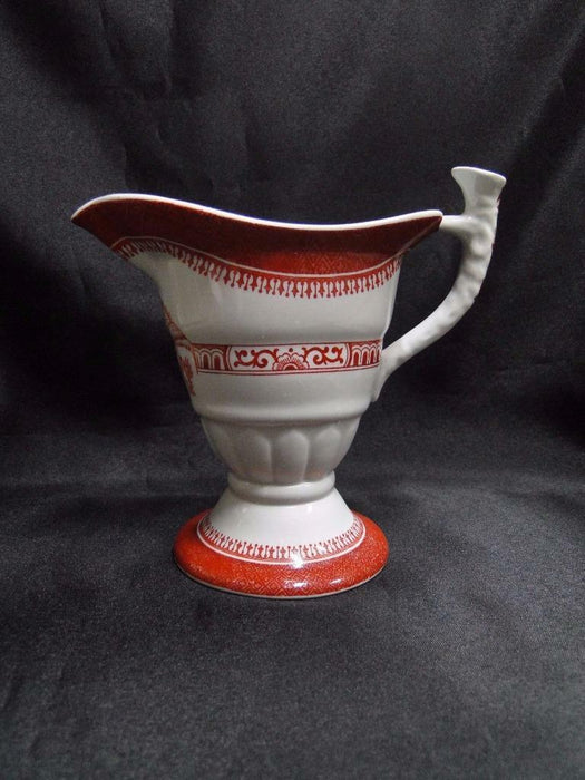 "Spode Heritage Red, Eagle, New Stone: Creamer / Cream Pitcher, 4"" Tall"