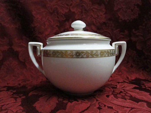 Royal Worcester Golden Anniversary, Gold Flowers & Band: Sugar Bowl & Lid, 4""