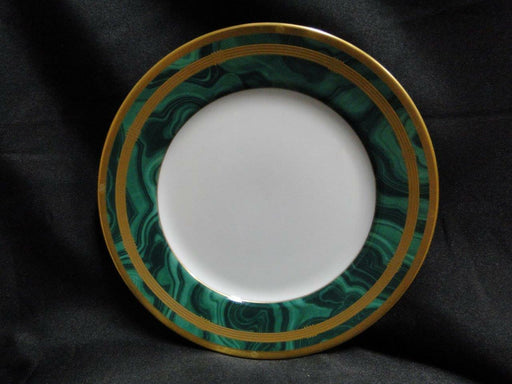 Christian Dior Gaudron Malachite Green with Gold Trim: Salad Plate (s) 8 1/4""