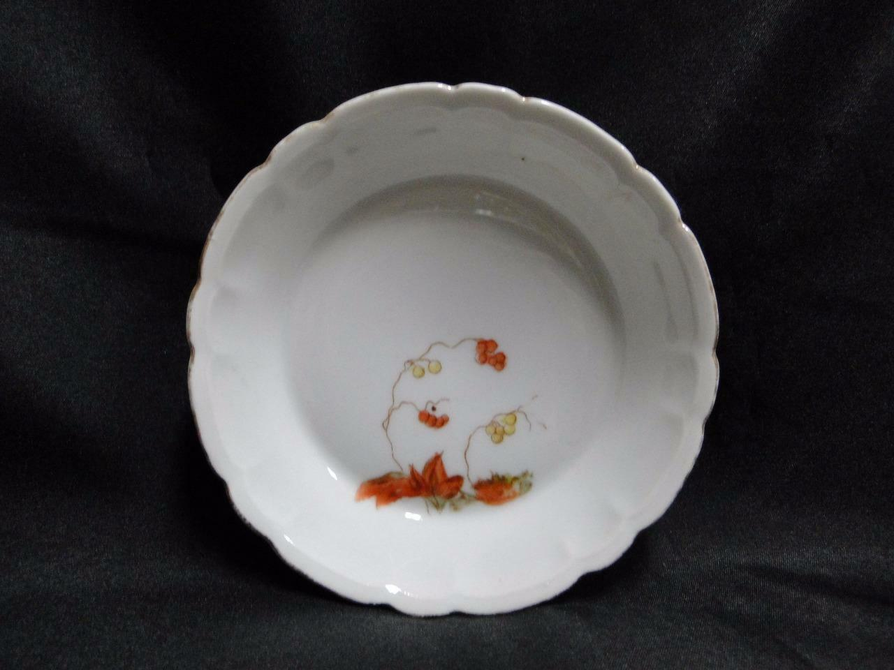 "Schwalb Brothers (BSM), Coral Flowers on White: Fruit Bowl, 5 1/4"", Design #2"