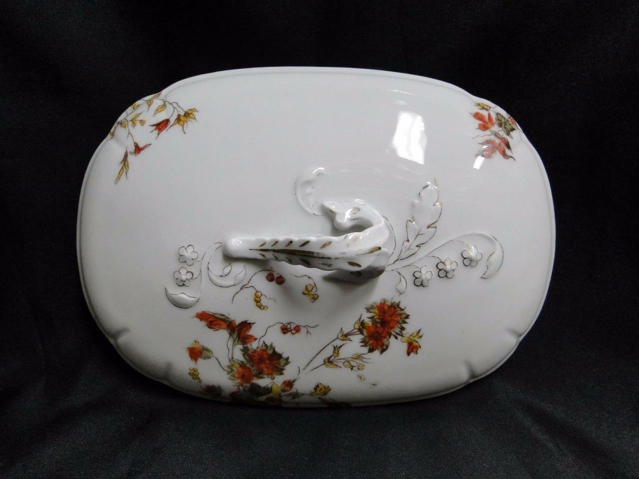 Schwalb Brothers (BSM), Coral Flowers: Lid Only for Oval Covered Serving Bowl