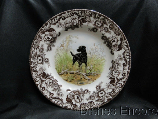 "Spode Woodland Black Labrador Hunting Dog: NEW Dinner Plate (s), 10 3/4"", Box"