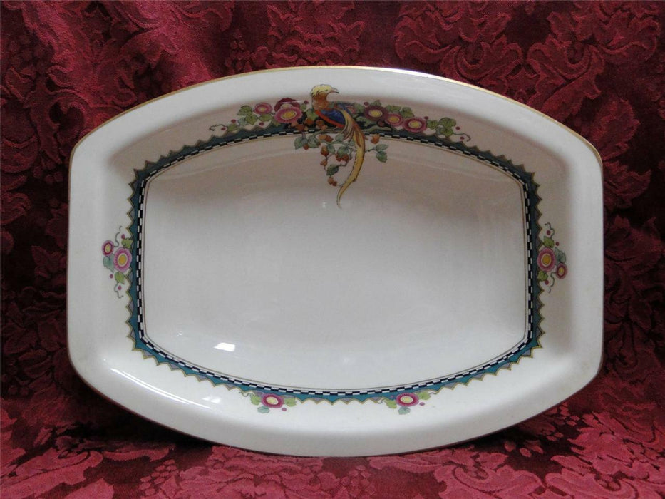 "Rosenthal Troubadour 2536, Bird, Floral, Cream: Oval Serving Bowl 10 1/4"" As Is"