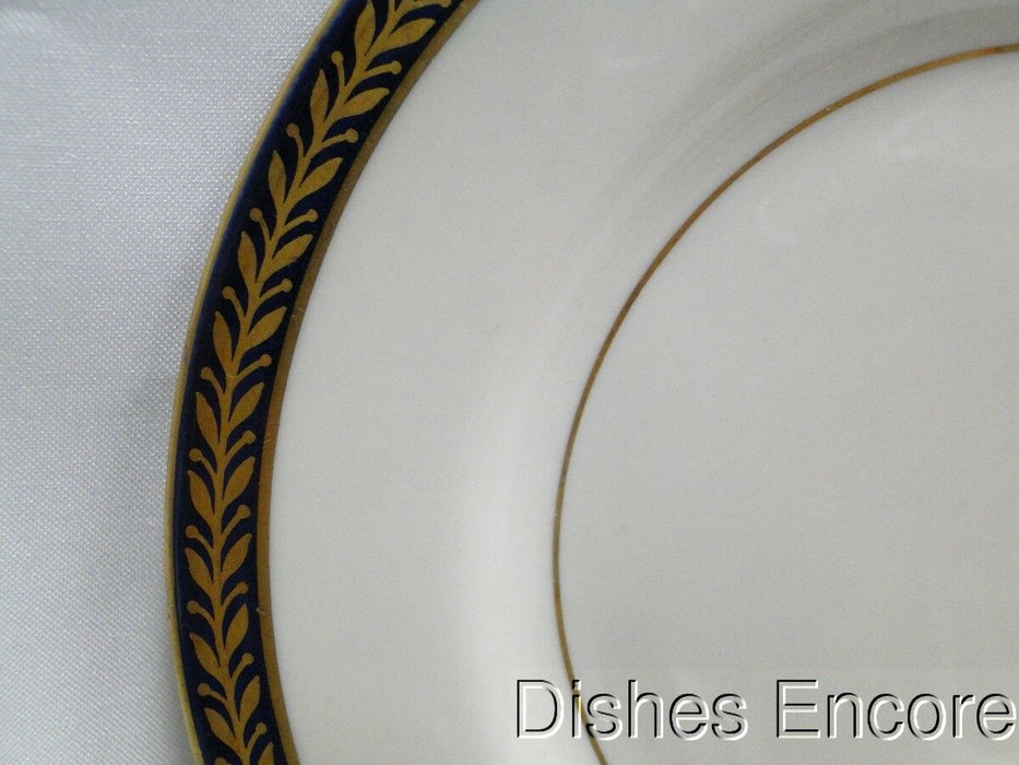 "Haviland (New York) Lauria, Cobalt w/Gold Laurel & Trim: Bread Plate 6 7/8"" AS IS"