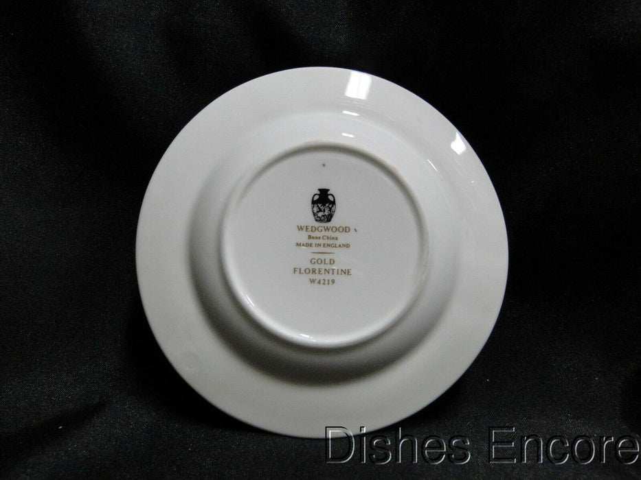 "Wedgwood Gold Florentine W4219, Dragons on White: Ashtray (s), 4 1/2"", 3 Slots"
