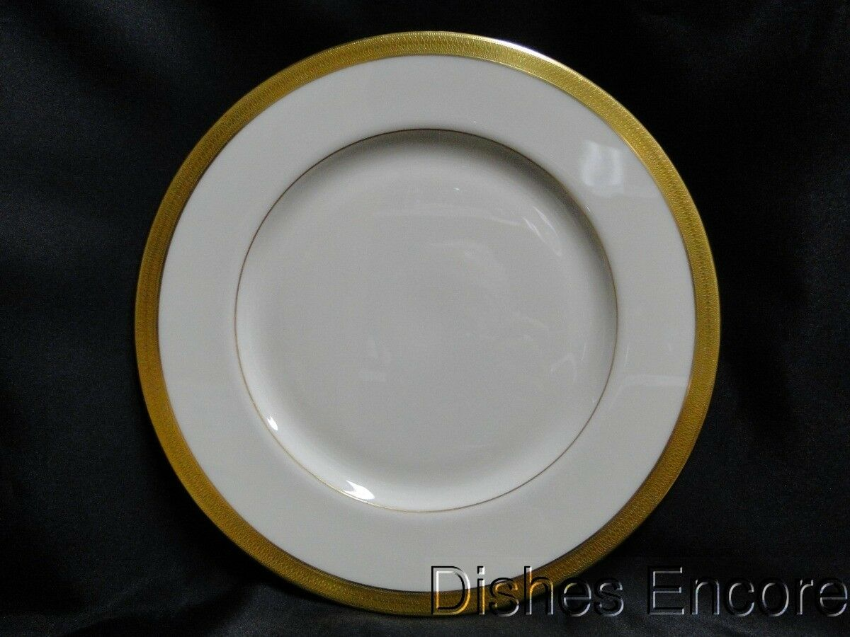 Lenox Lowell P-67 Gold Encrusted Band, Gold Backstamp: Dinner Plate (s) 10 5/8""
