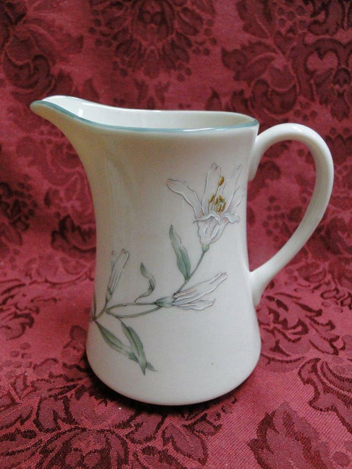 Gorham Melrose, Town and Country, Green Trim: Cream Pitcher 4 1/2""
