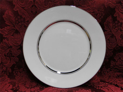 Oxford (Lenox) Lexington, Platinum Rings on White: Salad Plate (s), 8""
