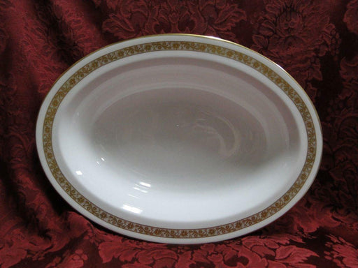 Royal Worcester Golden Anniversary, Gold Flowers & Band: Oval Vegetable Bowl 10""