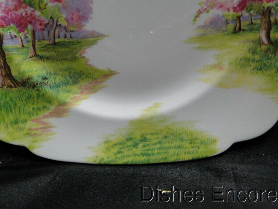 Royal Albert Blossom Time, Pink Flowering Trees: Square Dinner Plate (s), 9 3/4""