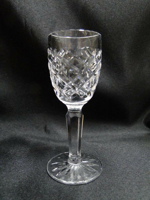 "Waterford Crystal Comeragh, Cut Criss Crosses: Cordial (s), 3 7/8"" Tall"