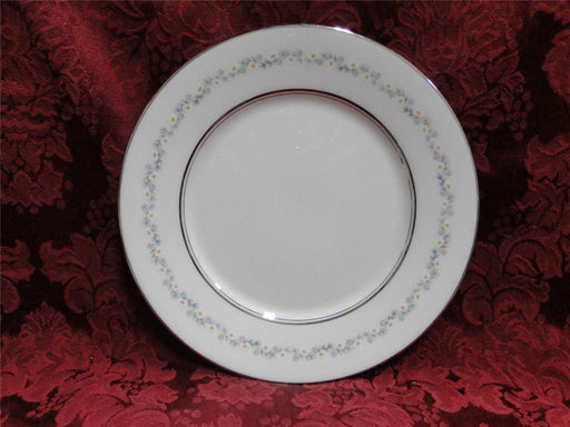 Oxford (Lenox) Holyoke, Daisies, Gray & Blue Leaves: Salad Plate (s), 8 1/8""
