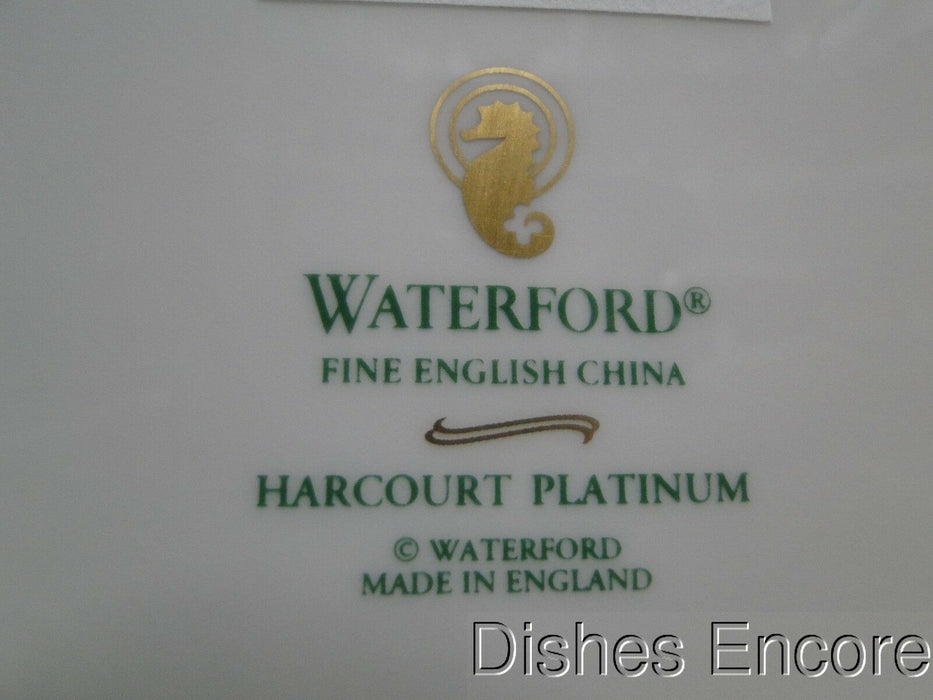 Waterford Harcourt Platinum, Platinum Bands on Rim: Salad Plate (s), 8 1/8""