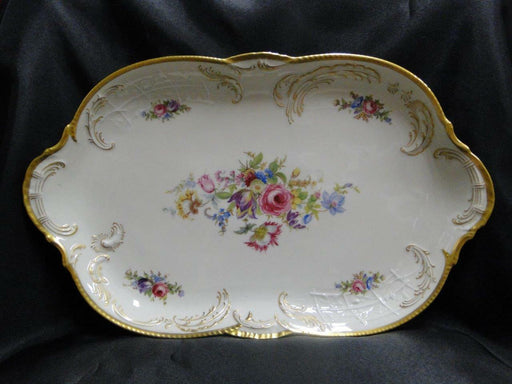 "Rosenthal Diplomat, Ivory w/ Florals & Gold: Oval Serving Platter, 15.25"" x 9.5"