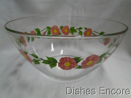 Franciscan Desert Rose (Arcoroc France): Glass Salad Bowl, 9""