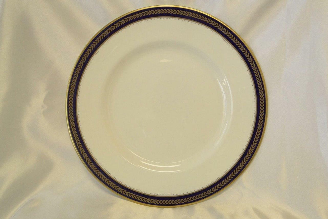 Coalport Blue Wheat, Bone, Gold Laurel on Cobalt Band: Dinner Plate (s) AS IS