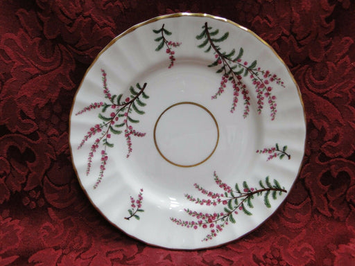 Royal Worcester Dunrobin, Purple & Pink Flowers: Bread Plate (s), 6 1/4""