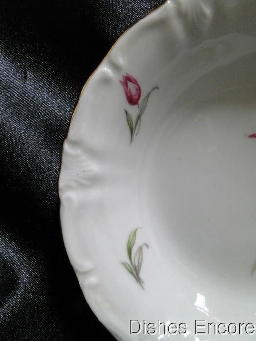 Winterling 84: Embossed Scrolls, Pink Flowers: Fruit Bowl (s), 5 1/4""
