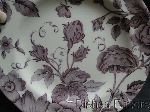 Spode Kingsley, Plum Florals on White, England: NEW Salad Plate (s), 7 1/2""