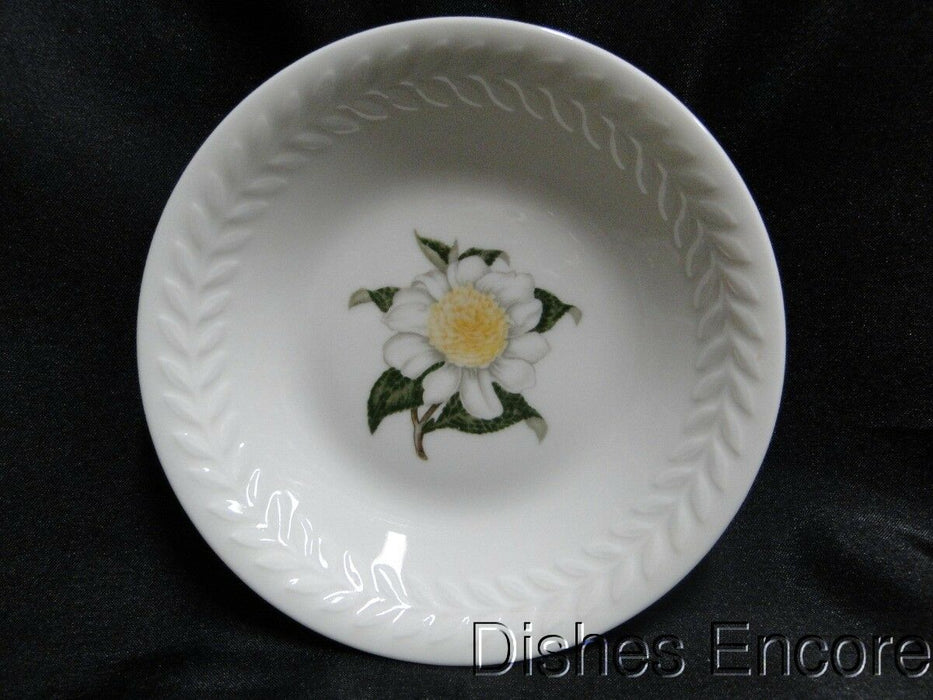 Haviland (New York) Camellia, White Flower w/Yellow, Embossed: Fruit Bowl 5""