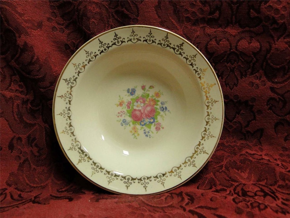Taylor Smith Taylor: Floral Bouquet, Gold Filigree: Fruit Bowl (s), 5 3/8""