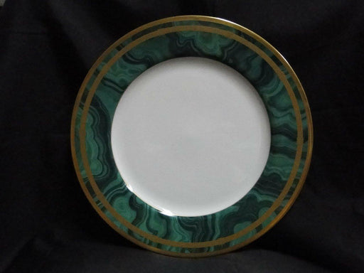 Christian Dior Gaudron Malachite Green with Gold Trim: Dinner Plate (s) 10 7/8""
