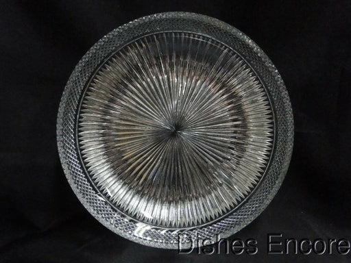 "Libbey Cut Glass Flat Bowl with Rays AS IS, 7 7/8"" x 1 5/8"""