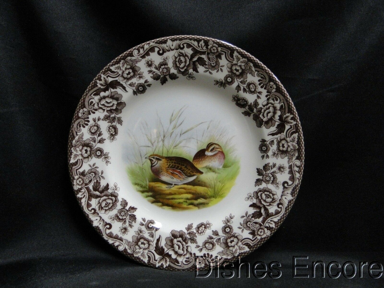 "Spode Woodland Quail Game Bird, England: NEW Salad Plate (s), 7 3/4"", Box"