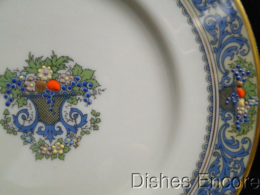 Lenox Autumn, Fruit, Blue Scrolls, Gold Trim: Salad Plate (s) 8 3/8""