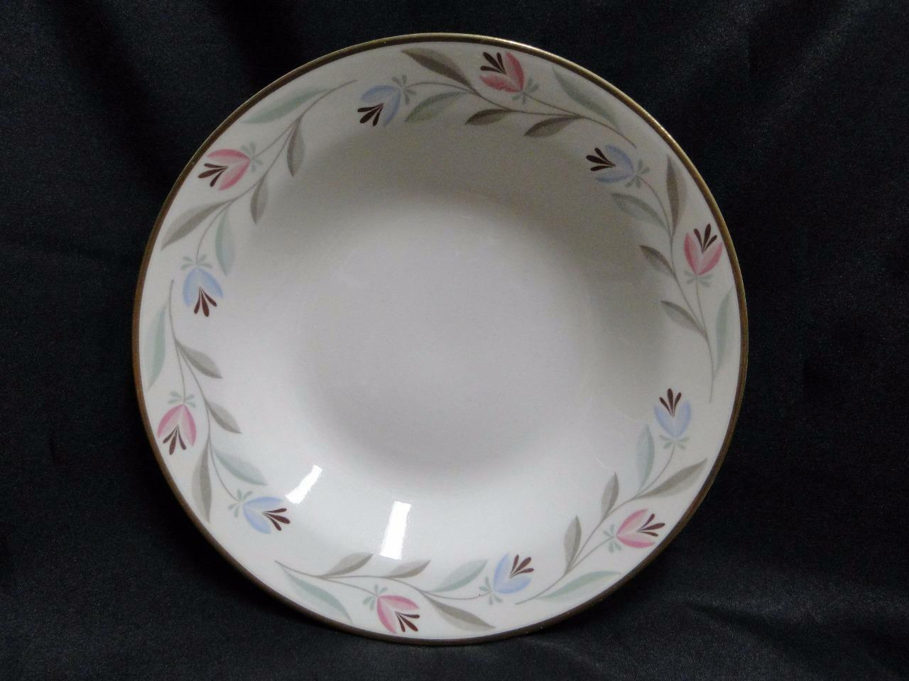 Homer Laughlin Nantucket, Eggshell Nautilus, Pink&Blue: Soup Bowl (s), 8 3/8""