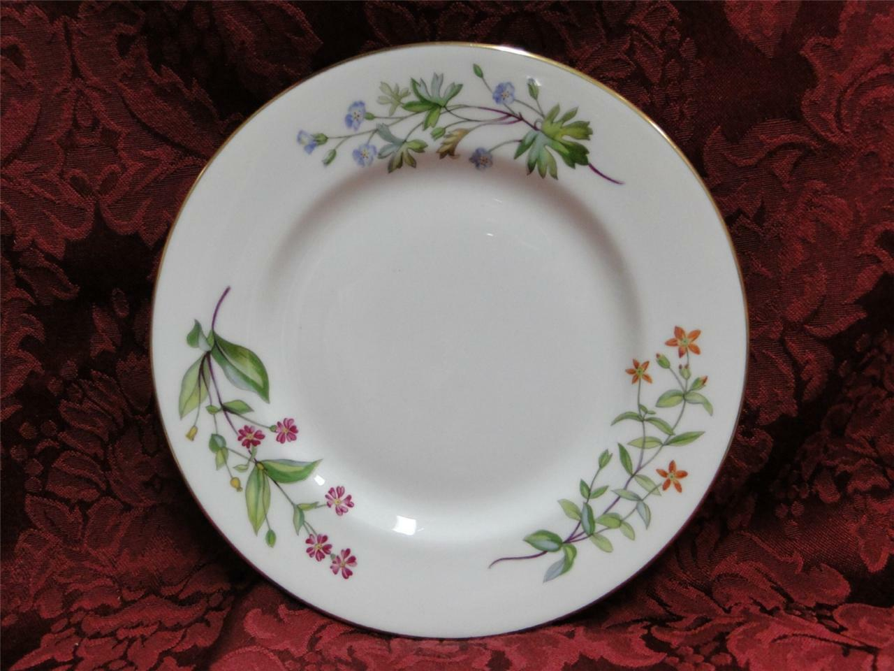 Minton Meadow Smooth, Floral with Gold Trim: Bread Plate (s) 6 3/8""