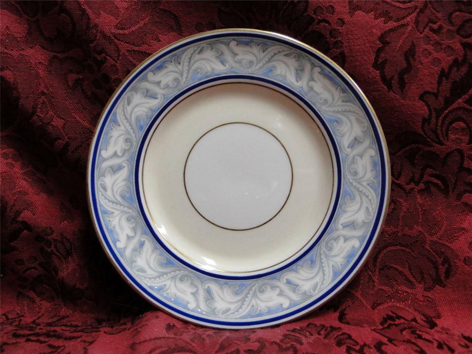 Royal Doulton The Tewkesbury, Scrolls on Blue Rim: Bread Plate (s), 6 1/8""