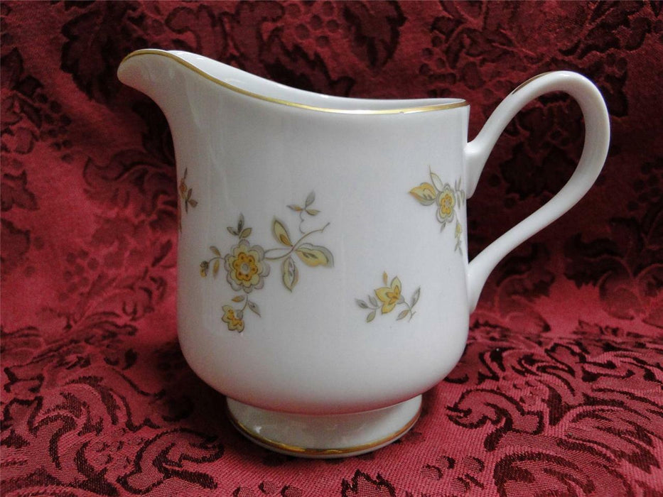 Majestic Hanover Small Flowers, Gold Trim: Cream Pitcher