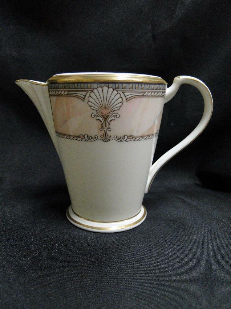 Noritake Pacific Majesty, 9771, White Shells, Pink Rim: Creamer / Cream Pitcher